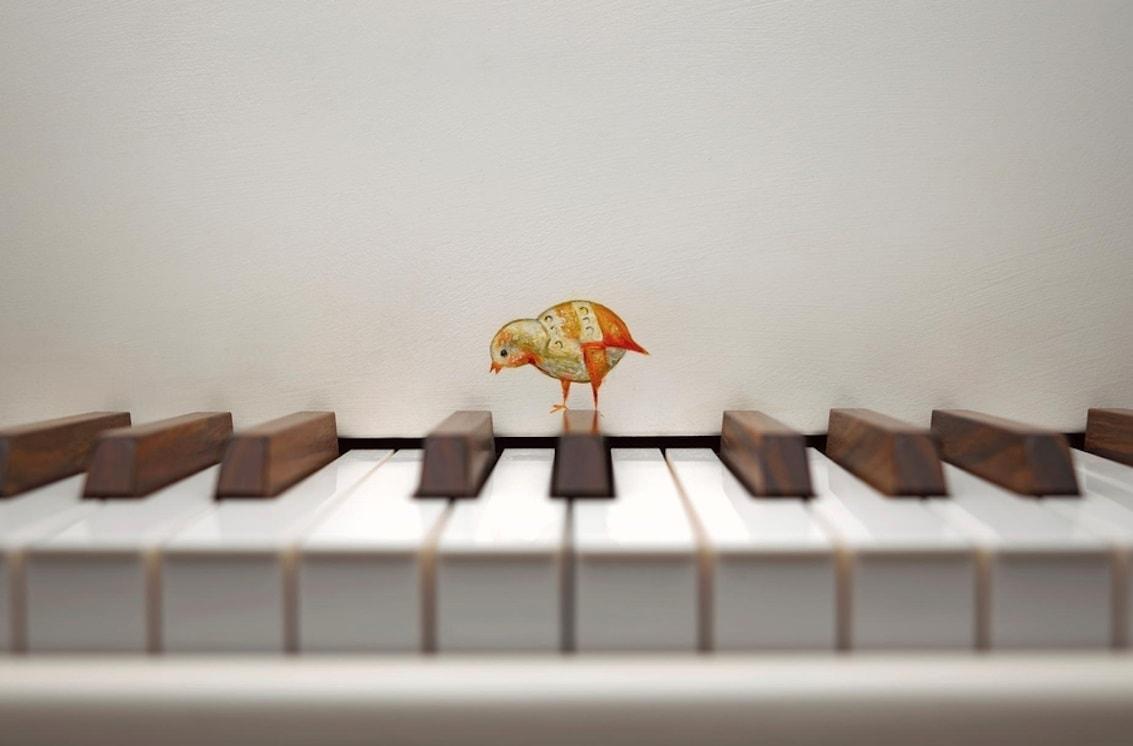 """Элемент оформления рояля STeinway & Sons """"Картинки с выставки"""""""""""