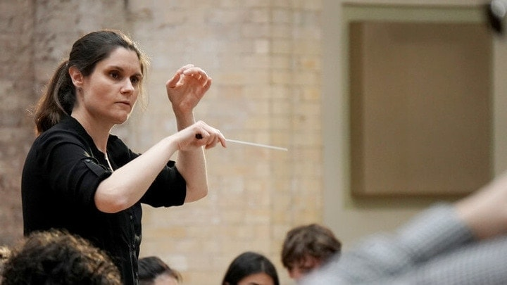 Деляна Лазарева. Фото - Siemens Hallé International Conductors Competition