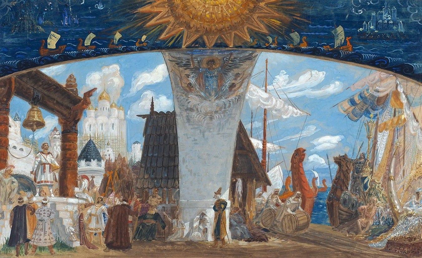 Мазанов Анатолий Михайлович (1909-1969) Эскиз декорации к опере Н. Римского-Корсакова «Садко». 1948