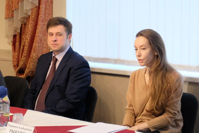 Генеральный директор Театра оперы и балета республики Коми Дмитрий Степанов, главный балетмейстер театра Марианна Рыжкина