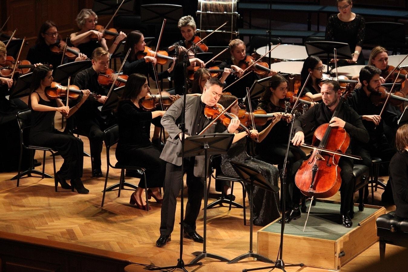 Московский молодёжный симфонический оркестр. Солисты Максим Венгеров (скрипка) и Борис Андрианов (виолончель)