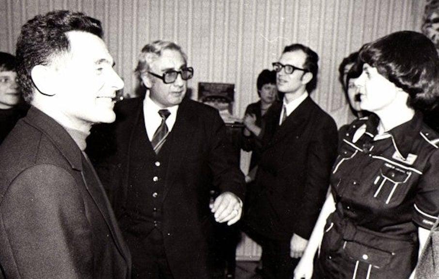 Жан-Мари Лондейкс, Юрий Усов, Сергей Солодовник в гостях у Маргариты Шапошниковой, Москва, 1970-е годы