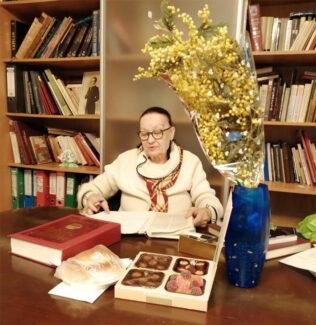 Людмила Рыбакова во время последнего визита в театр. Фото - сайт Большого театра