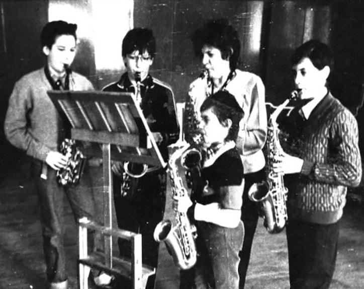 Маргарита Шапошникова с учениками Гнесинской десятилетки Димой Гитбутом и Сашей Ивановым