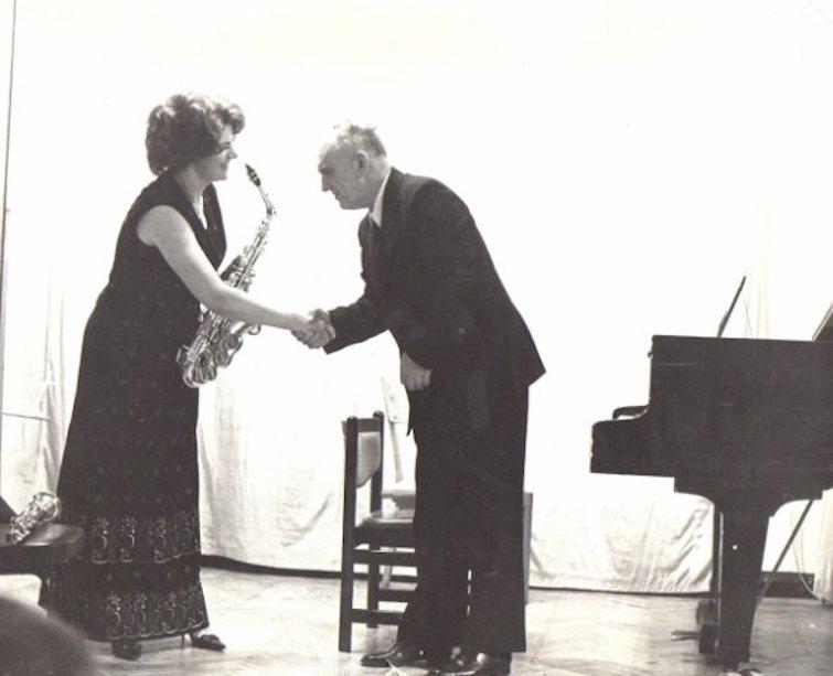 Маргарита Шапошникова и композитор Николай Пейко