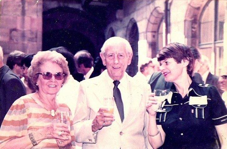 Маргарита Шапошникова c Марселем Мюлем и его супругой на конгрессе саксофонистов в Нюрнберге, 1970-е годы