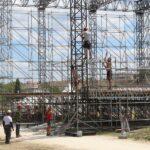 В Херсонесе начался монтаж сцены для IV ежегодного оперного фестиваля