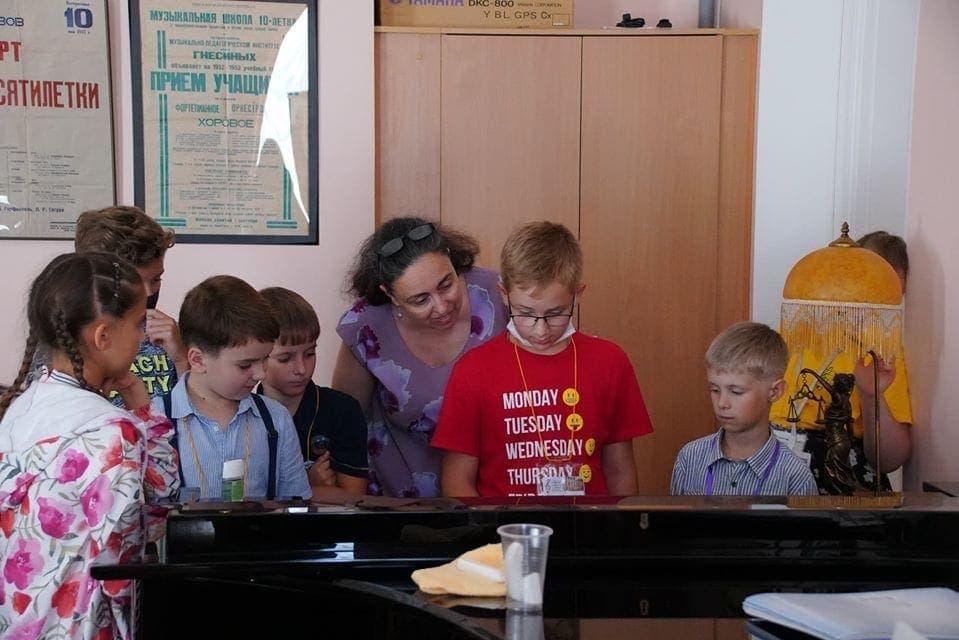 Занятия в классе Елены Двоскиной. Фото - Екатерина Ключникова