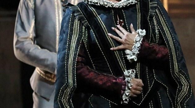 Юсиф Эйвазов – Дон Карлос. Анна Нетребко – Елизавета Валуа. Фото - Дамир Юсупов