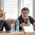 Вадим Репин и Валентин Урюпина на пресс-конференции. Фото - Александр Иванов