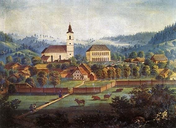 Ансфельден в 1820-х годах. Неизвестный художник