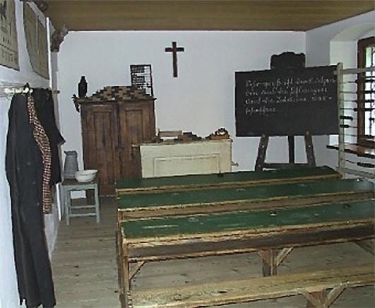 Классная комната в школе в Ансфельдене