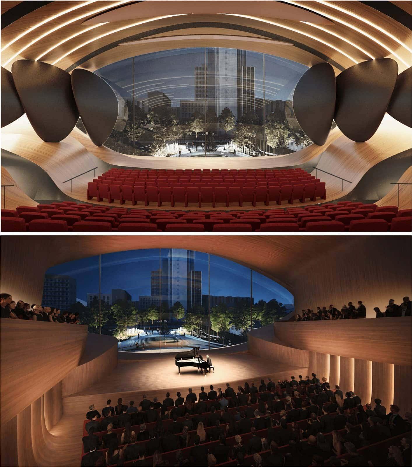 Концертный зал Свердловской филармонии в Екатеринбурге по проекту Zaha Hadid Architects