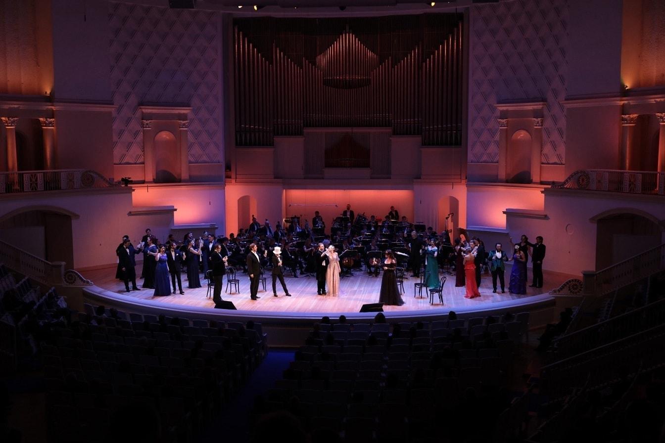 «Летучая мышь» Иоганна Штрауса в концертном исполнении. Фото - МГАФ