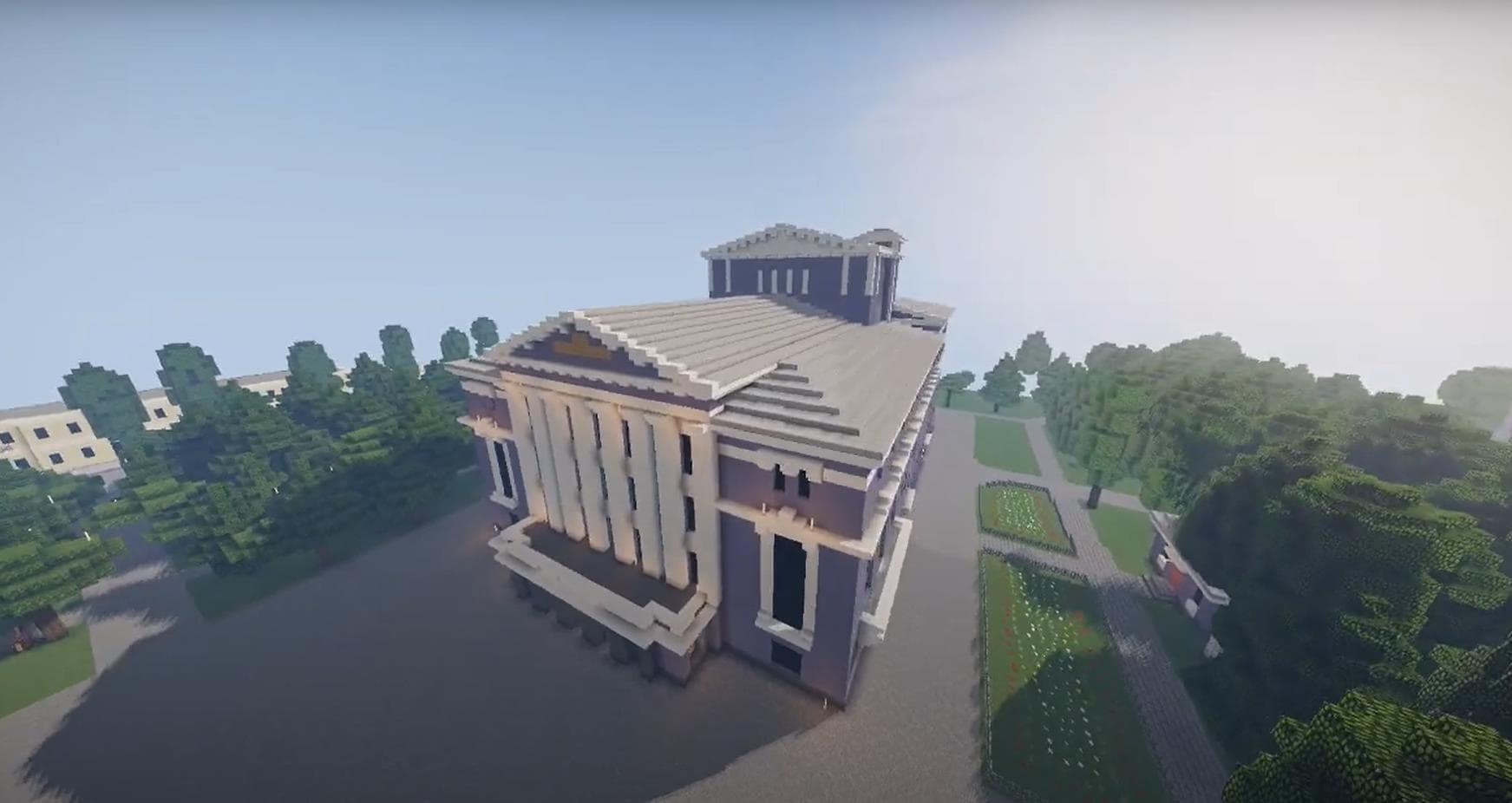 Пермский театр оперы и балета в Minecraft