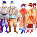 Варвара Егорова. Эскиз костюмов селян © Мариинский театр
