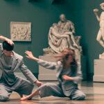 Танцовщики в зале Микеланджело. Хореограф Анна Щеклеина. Фото - Петр Сильвестров