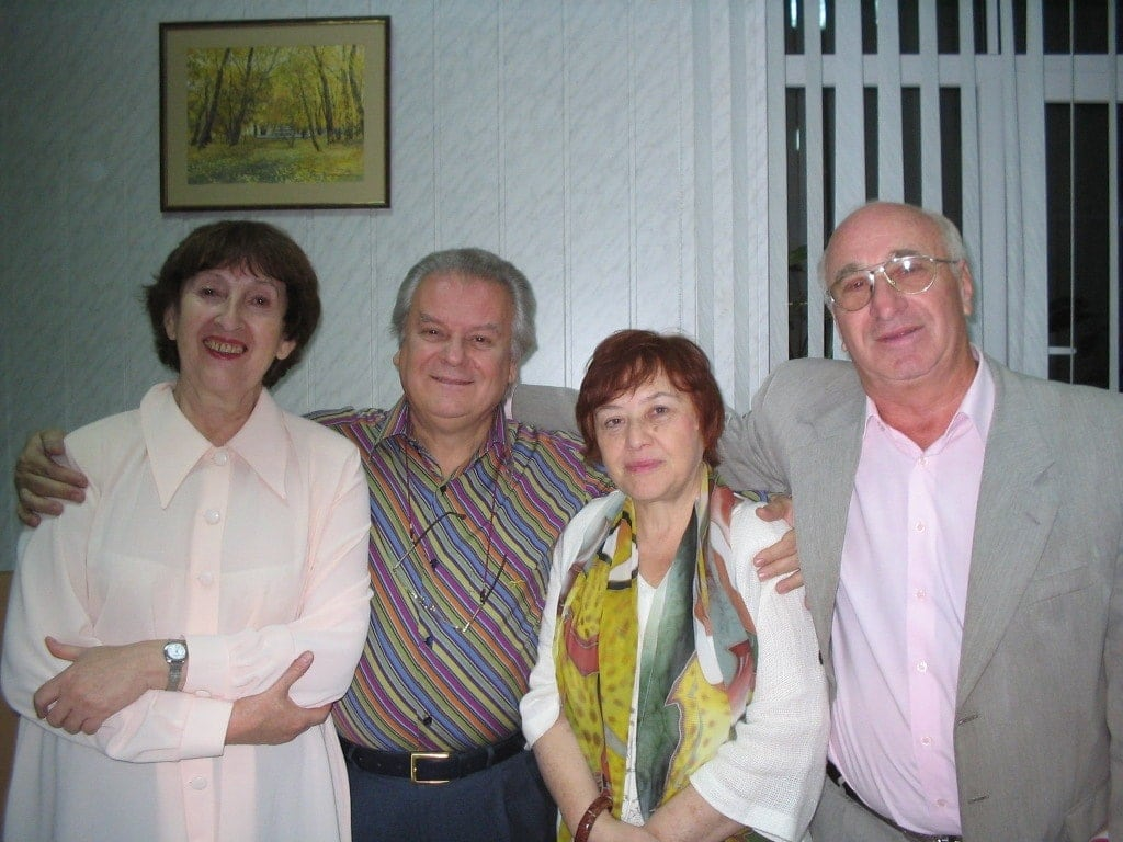 Елизавета Штейнфельд, Юрий Симонов, Татьяна Кан, Феликс Аронс. Саратов, 2005 год