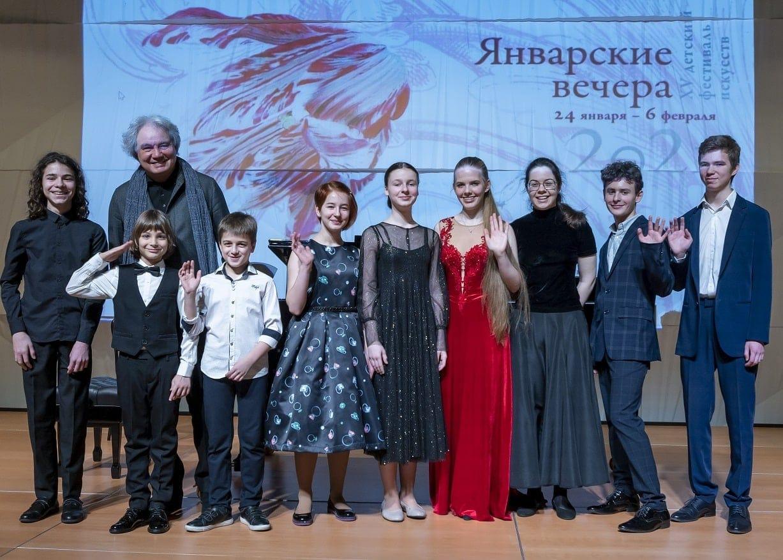 """Михаил Хохлов и участники фестиваля """"Январские вечера"""" - 2021"""