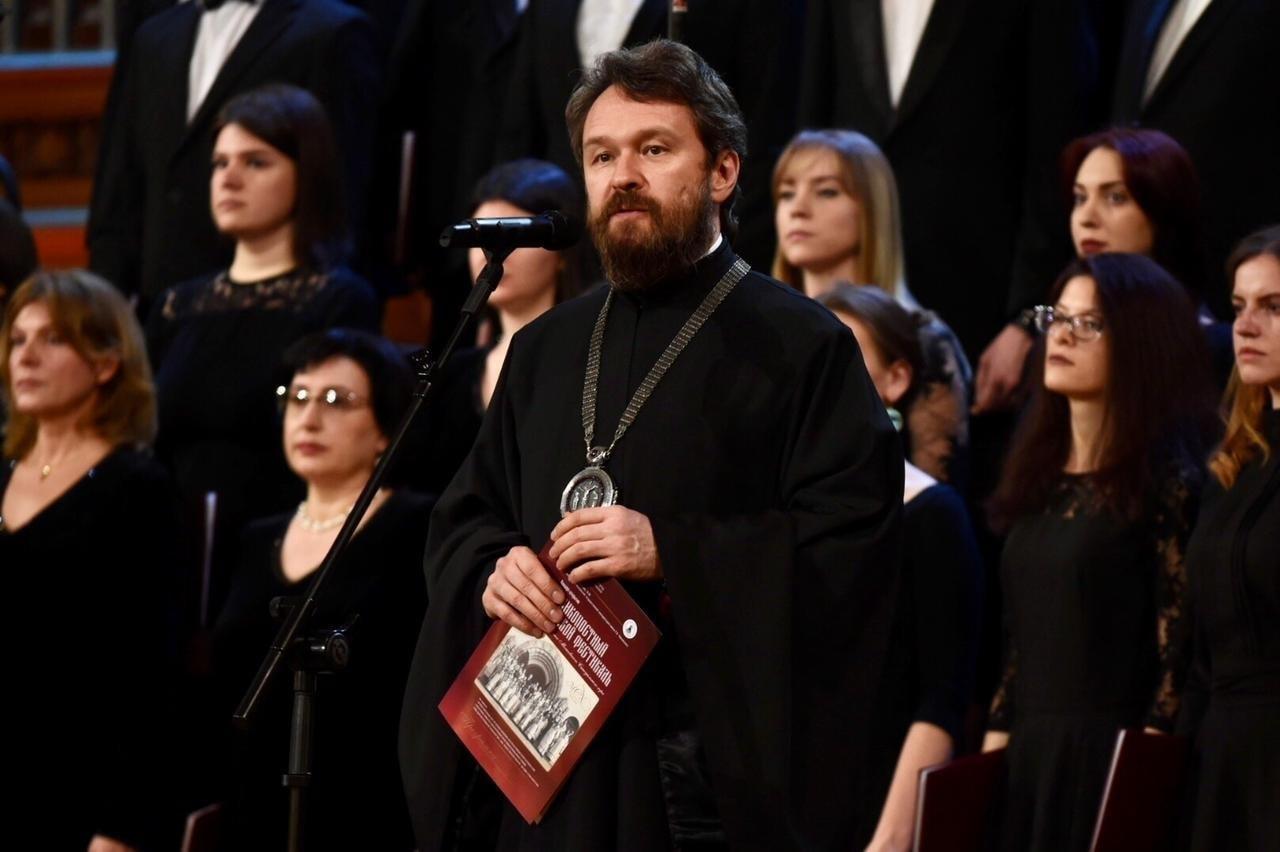 С приветственной речью перед гостями мероприятия выступил митрополит Волоколамский Иларион