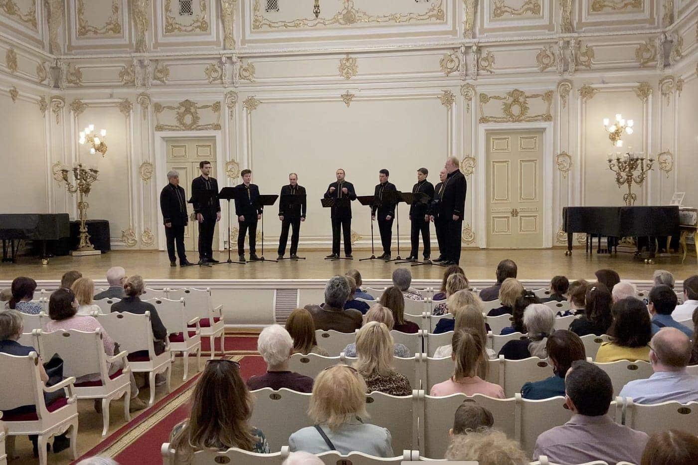 Концерт хора в Малом зале Петербургской филармонии