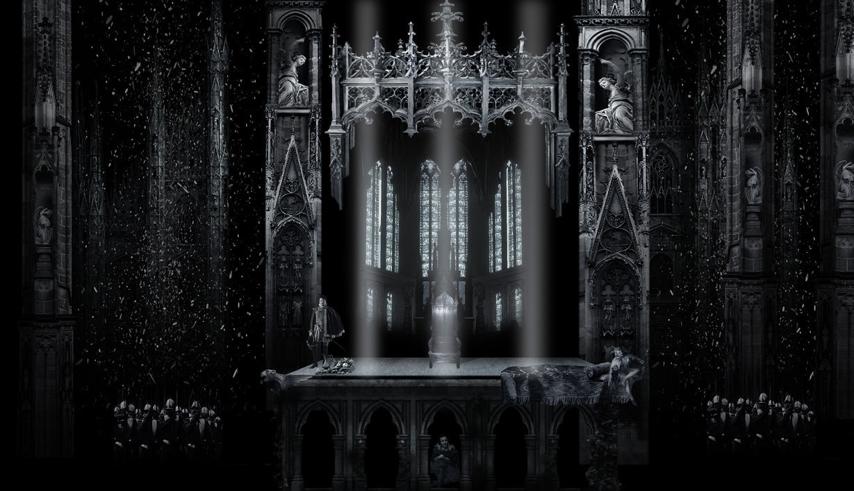 Орлеанская дева. 2 картина. Эскиз Вячеслава Окунева
