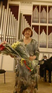 Татьяна Кан после концерта в Большом зале консерватории. Фото из личного архива