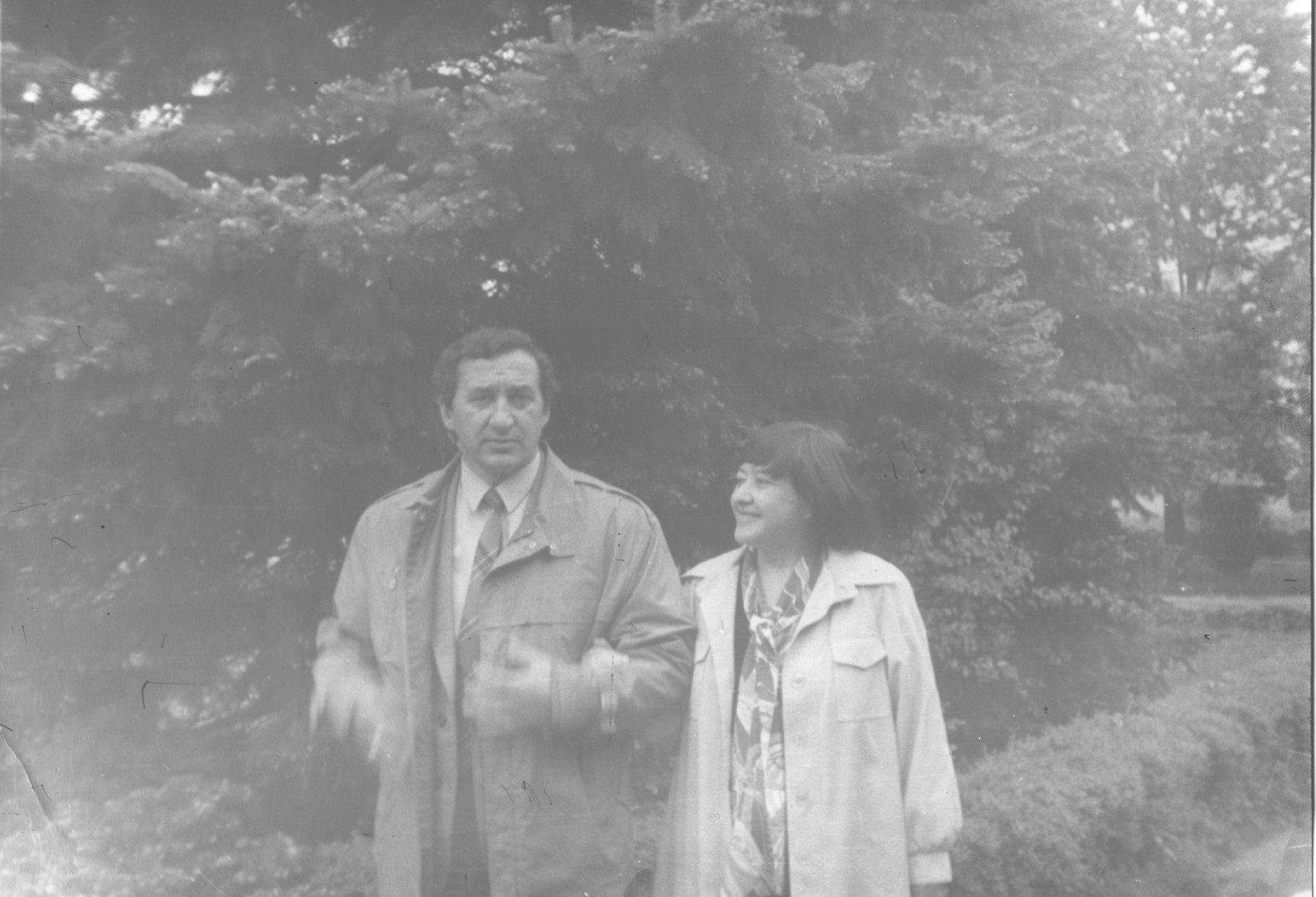 Татьяна Кан и Адам Ханаху. Майкоп 1980 г. Фото из личного архива