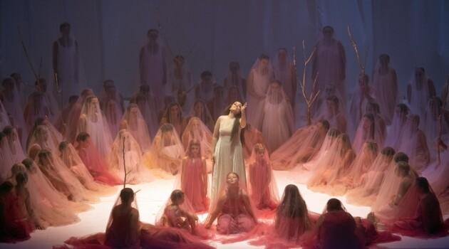 """Сцена из оперы Моцарта """"Дон Жуан"""" в постановке Ромео Кастеллуччи. Фото - Рут Вальц"""
