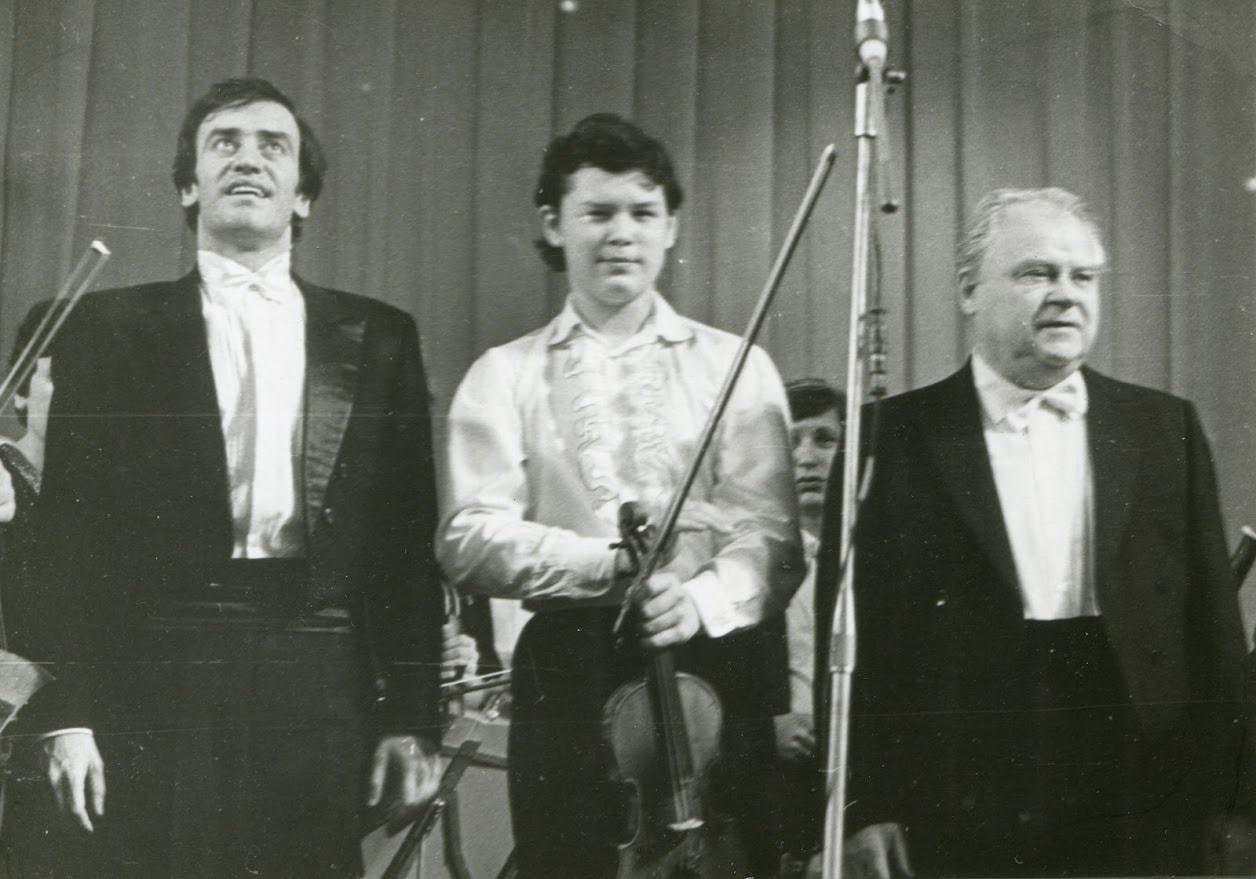 Валерий Гергиев, Вадим Репин и Тихон Хренников. 1984 год
