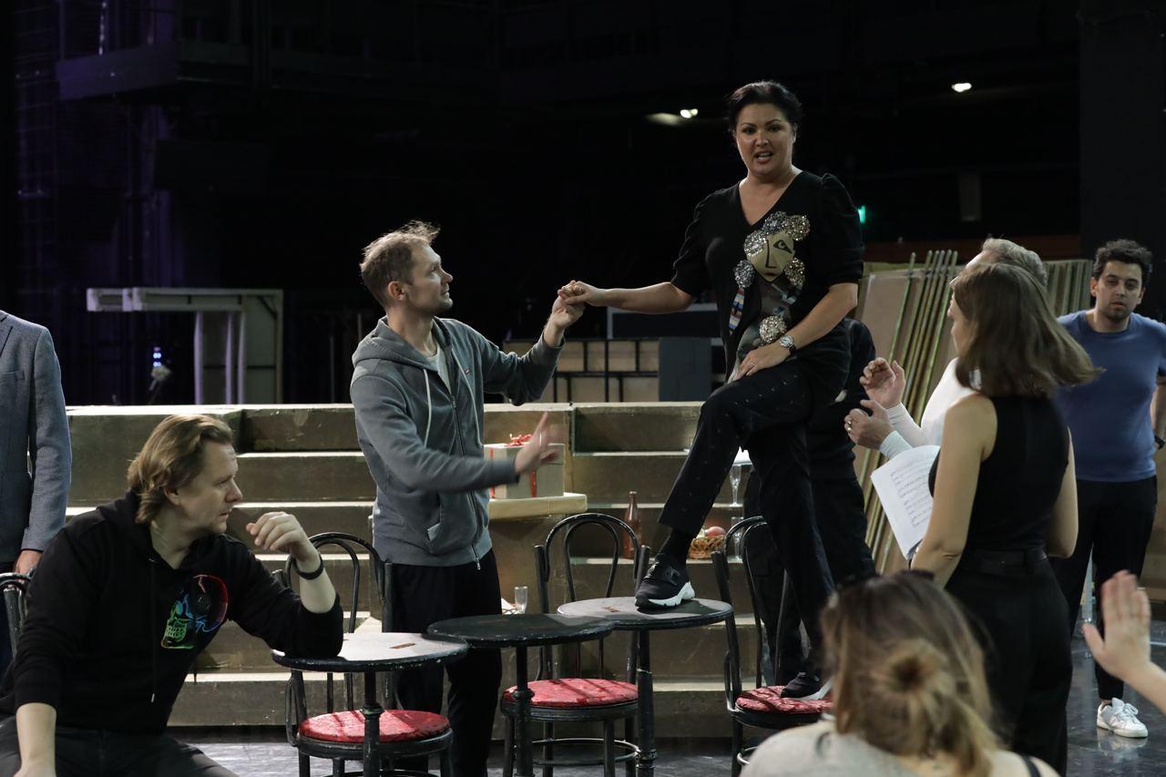 Репетиция юбилейного концерта Анны Нетребко. Фото - Наташа Разина